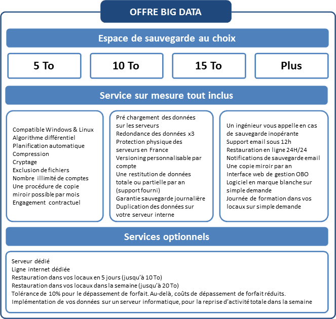 Offre OutBackup Big Data